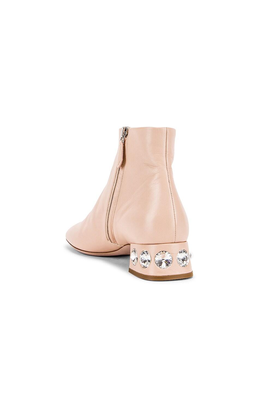 Image 3 of Miu Miu Jeweled Ankle Boots in Nude