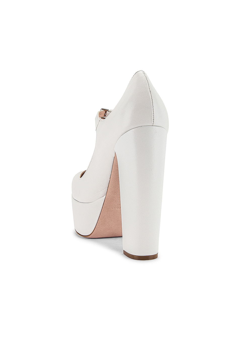 Image 3 of Miu Miu Plain Mary Jane Platform Heels in White