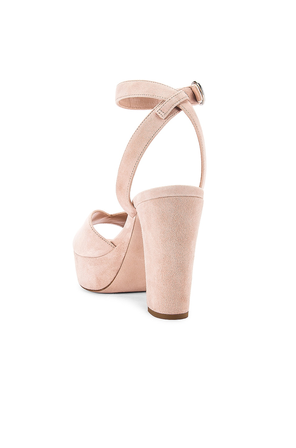 Image 3 of Miu Miu Platform Ankle Strap Sandals in Nude
