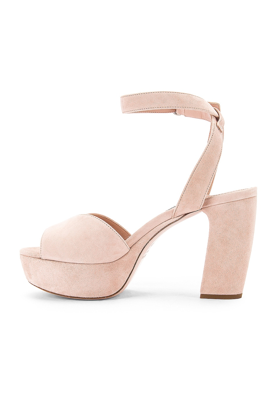 Image 5 of Miu Miu Platform Ankle Strap Sandals in Nude
