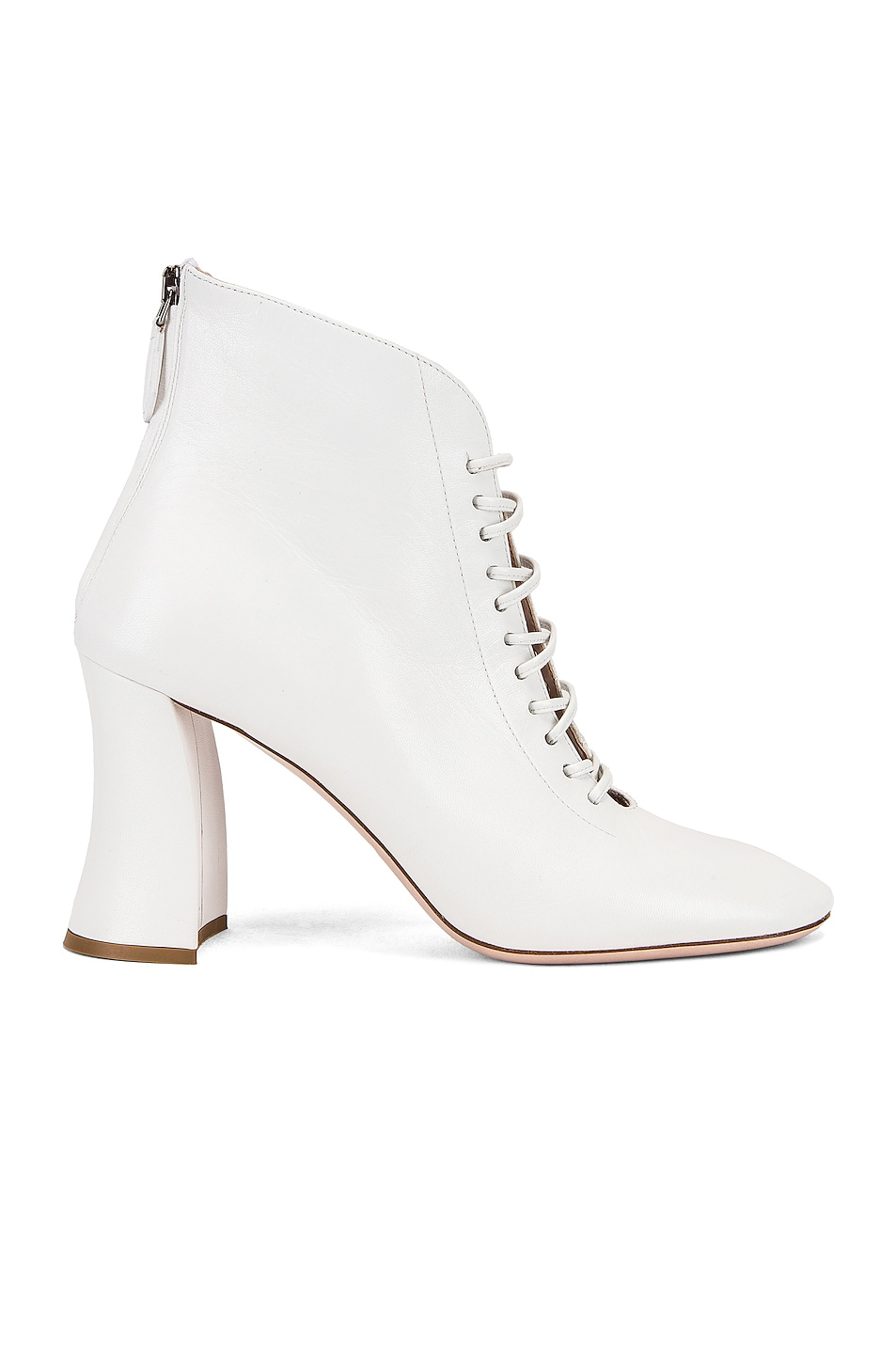 Image 1 of Miu Miu Lace Up Ankle Boots in White