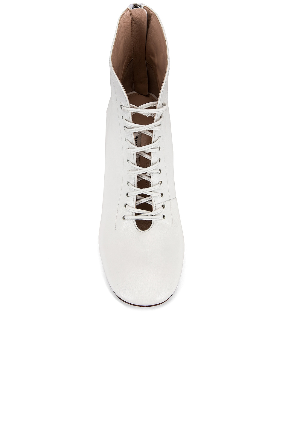 Image 4 of Miu Miu Lace Up Ankle Boots in White