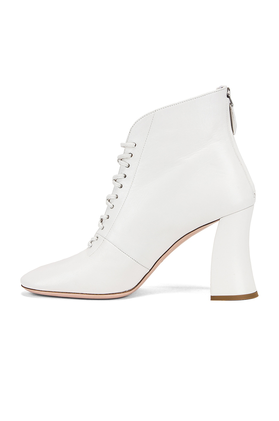 Image 5 of Miu Miu Lace Up Ankle Boots in White