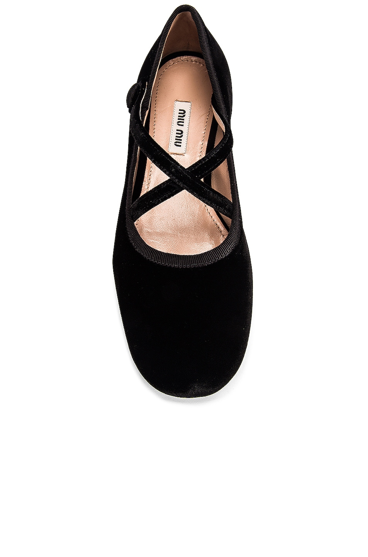 Image 4 of Miu Miu Ballerina Flats in Black