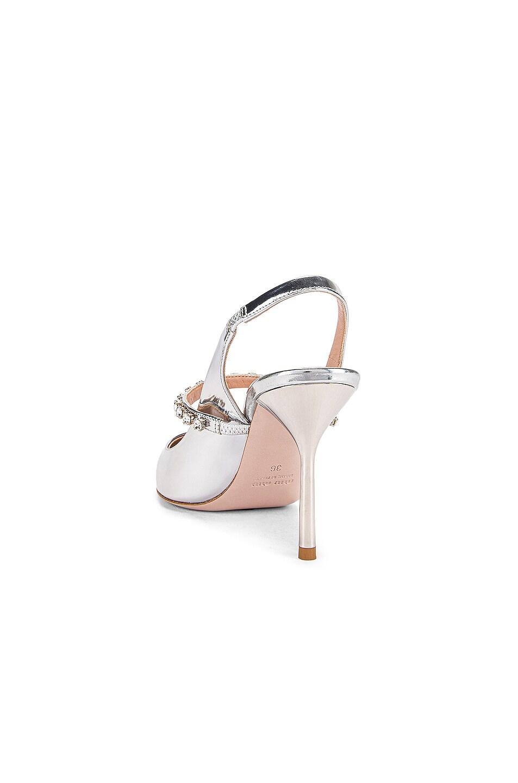 Image 3 of Miu Miu Jeweled Slingback Heels in Silver