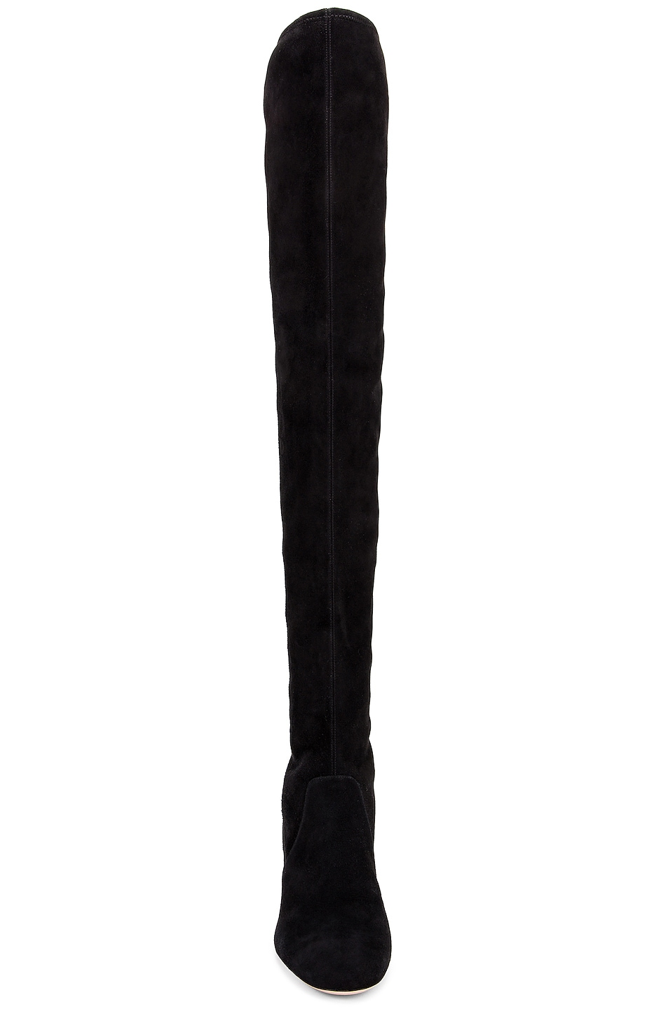 Image 4 of Miu Miu Jeweled Over the Knee Boots in Black