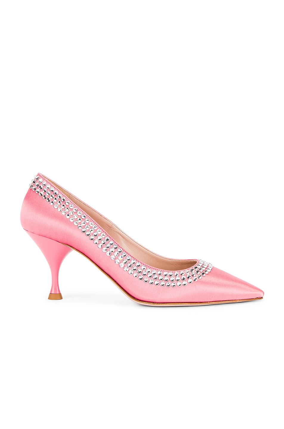 Image 1 of Miu Miu Crystal Rainbow Heels in Rosa
