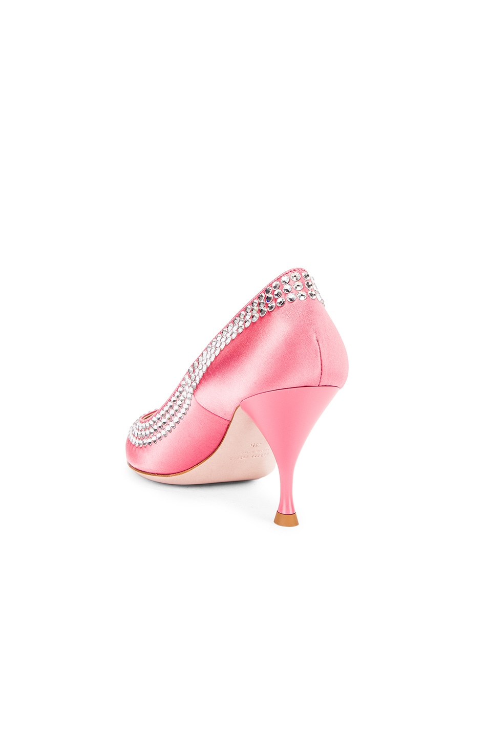 Image 3 of Miu Miu Crystal Rainbow Heels in Rosa
