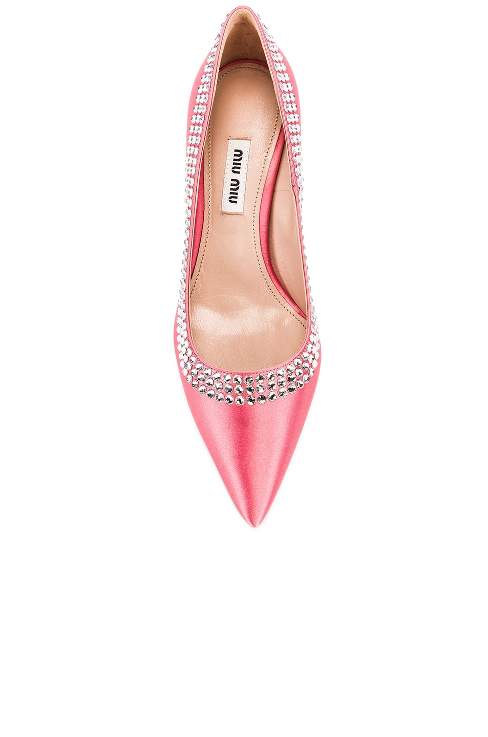 Image 4 of Miu Miu Crystal Rainbow Heels in Rosa
