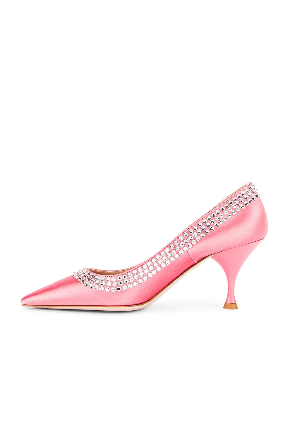 Image 5 of Miu Miu Crystal Rainbow Heels in Rosa