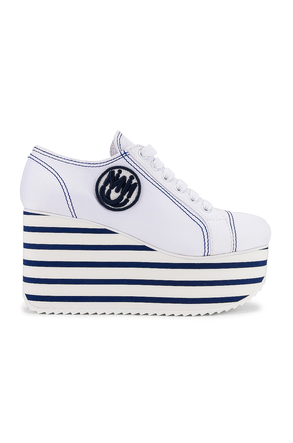 Image 1 of Miu Miu Platform Sneakers in Bianco & Bluette