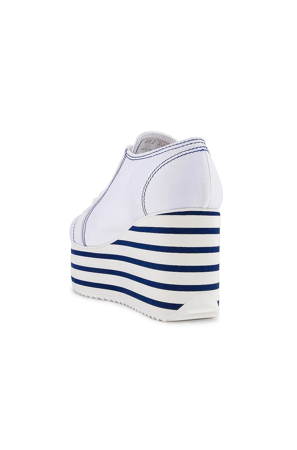 Image 3 of Miu Miu Platform Sneakers in Bianco & Bluette