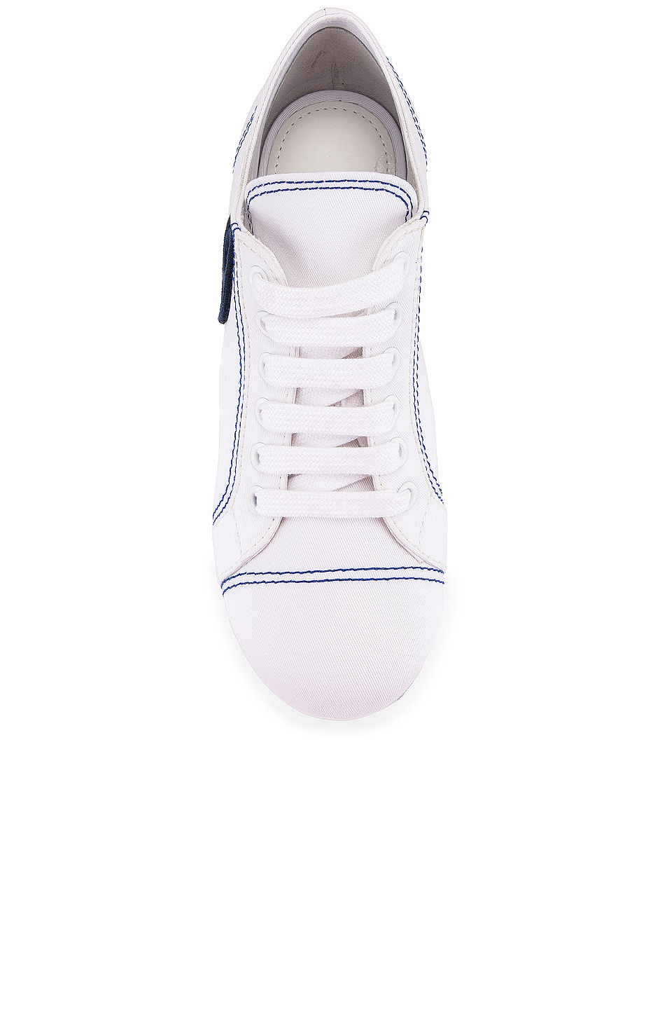 Image 4 of Miu Miu Platform Sneakers in Bianco & Bluette