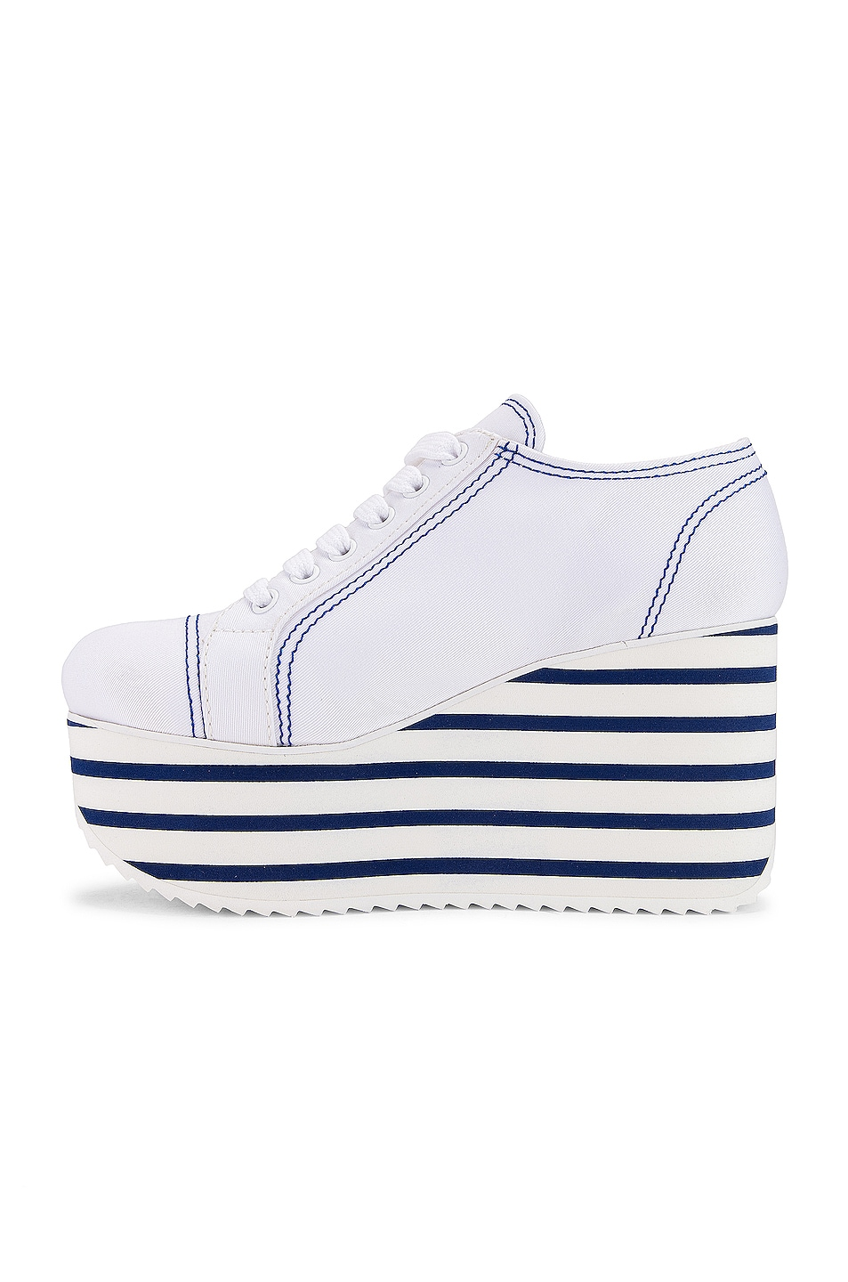 Image 5 of Miu Miu Platform Sneakers in Bianco & Bluette