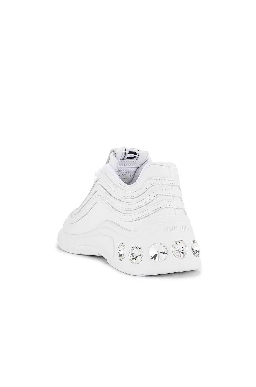 Image 3 of Miu Miu Jewel Athletic Sneakers in White