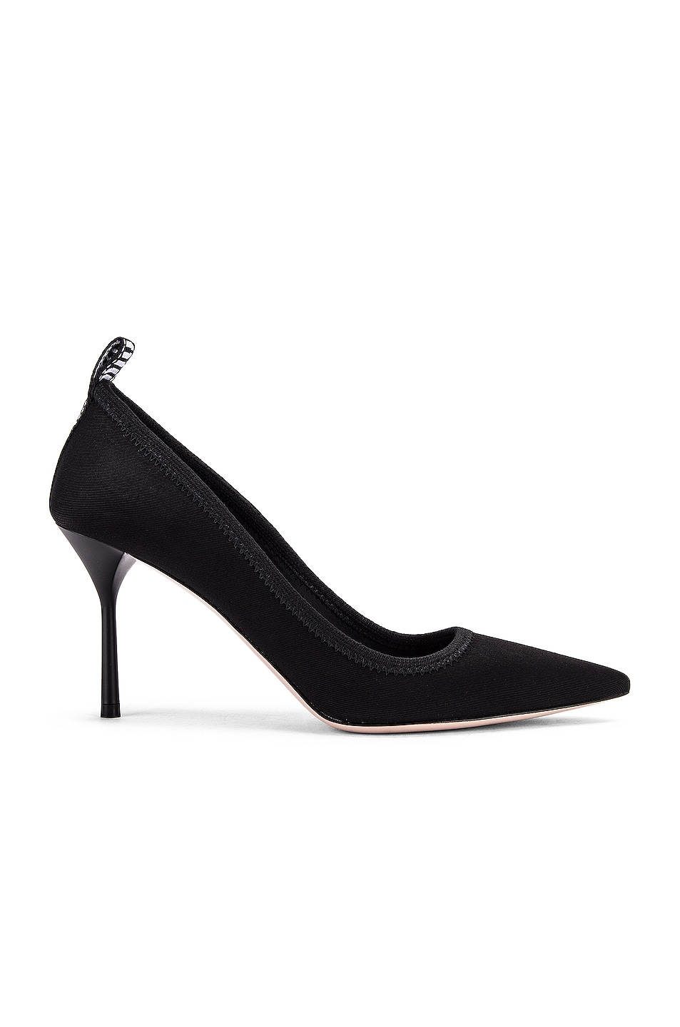 Image 1 of Miu Miu Pointed Toe Heels in Black