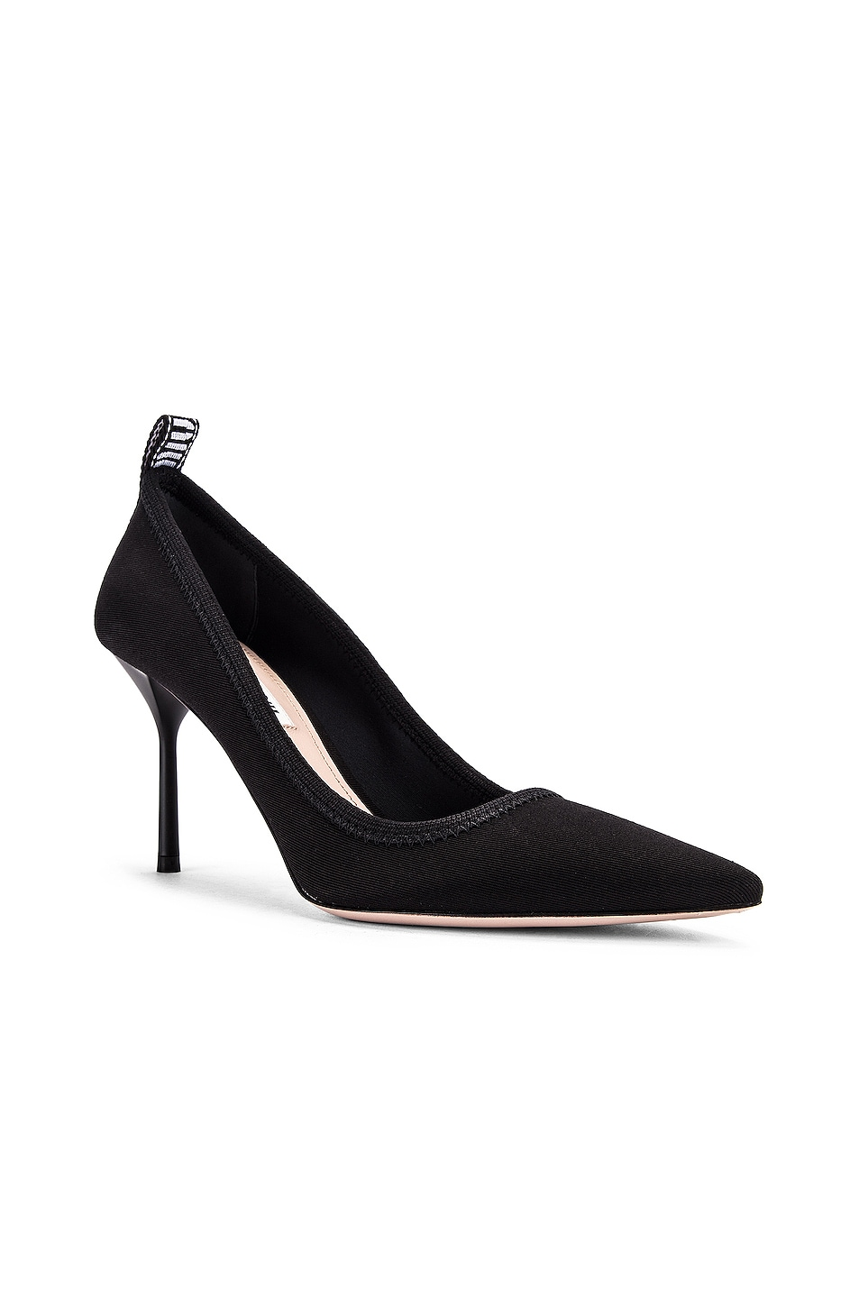 Image 2 of Miu Miu Pointed Toe Heels in Black