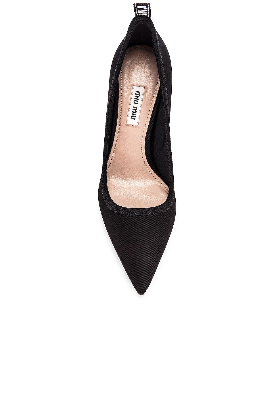 Image 4 of Miu Miu Pointed Toe Heels in Black