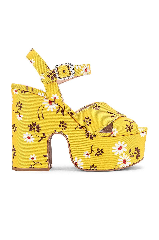 Image 1 of Miu Miu Daisy Platform Sandals in Topazio