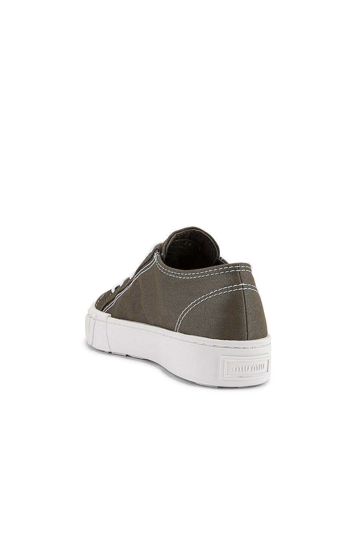 Image 3 of Miu Miu Low Top Sneakers in Military & White