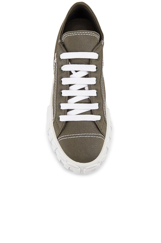 Image 4 of Miu Miu Low Top Sneakers in Military & White