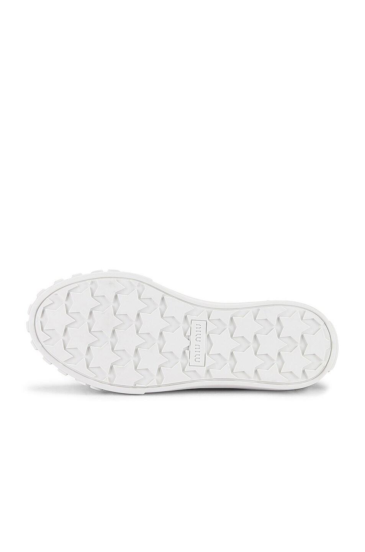 Image 6 of Miu Miu Low Top Sneakers in Military & White