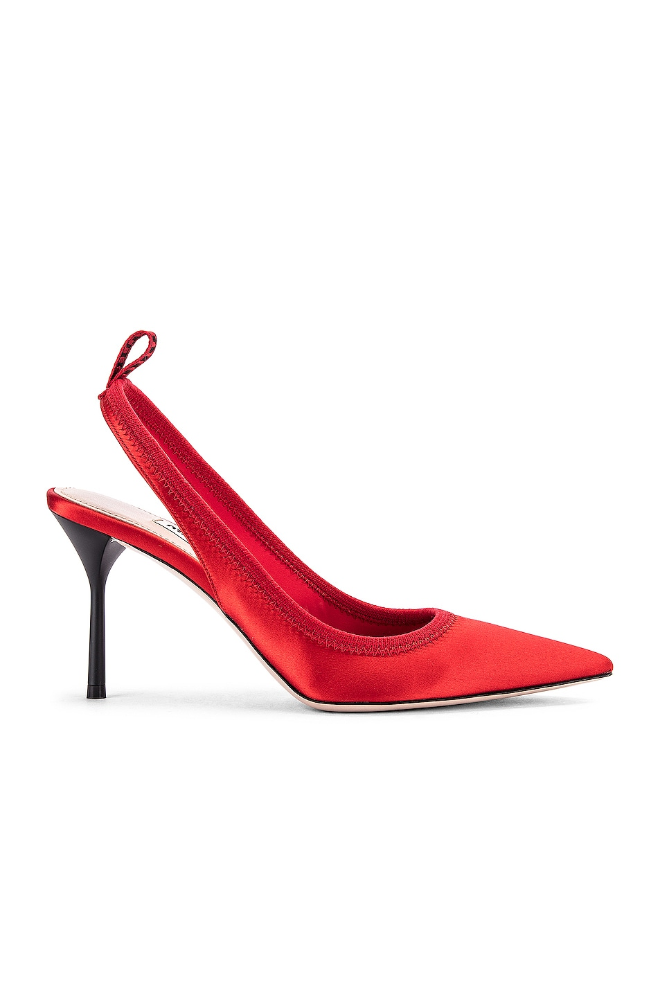 Image 1 of Miu Miu Tag Pumps in Rosso