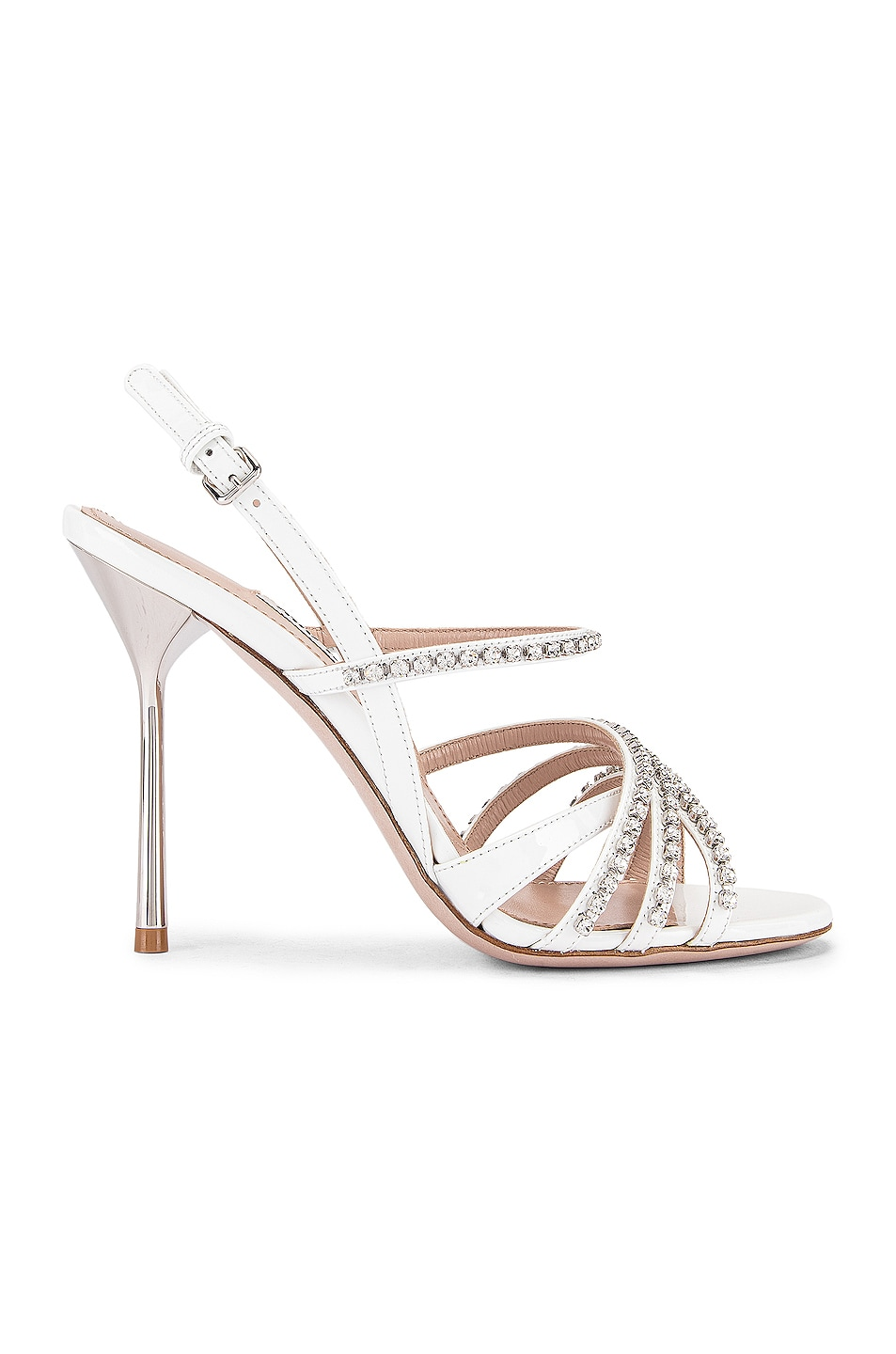 Image 1 of Miu Miu Jewel Slingback Heels in White