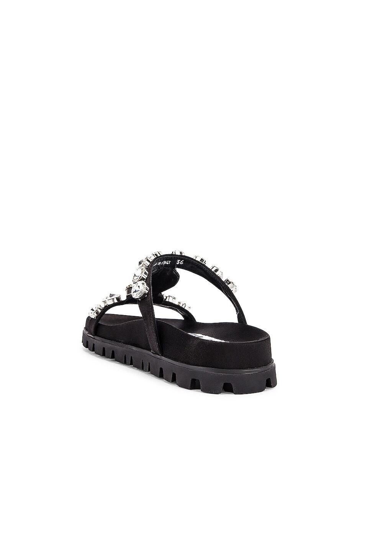 Image 3 of Miu Miu Jewel Slides in Black