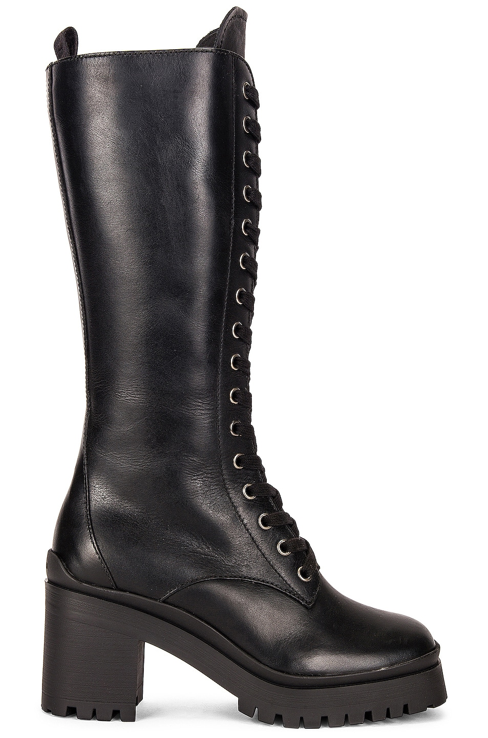 Image 1 of Miu Miu Lace Up Boots in Nero
