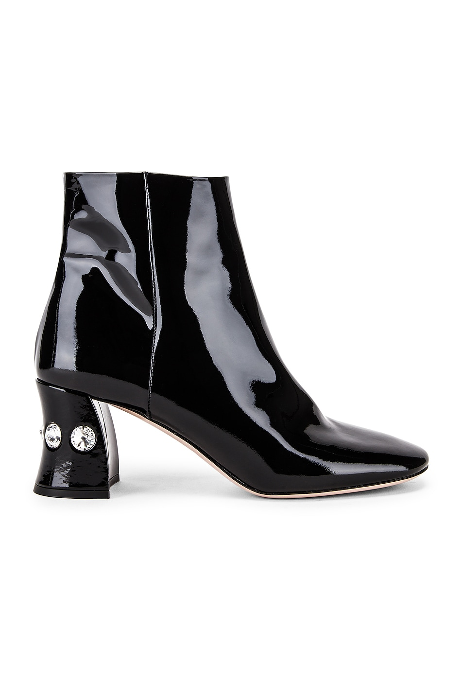 Image 1 of Miu Miu Jeweled Ankle Boots in Black