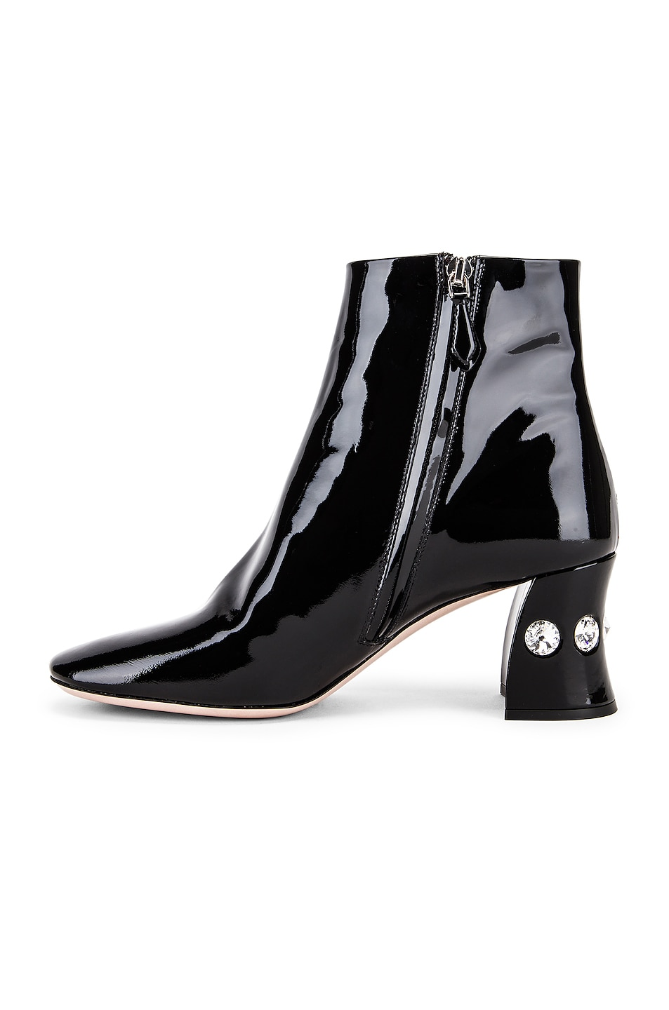 Image 5 of Miu Miu Jeweled Ankle Boots in Black