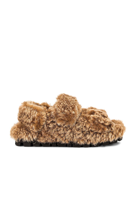 Image 1 of Miu Miu Slingback Sandals in Cognac