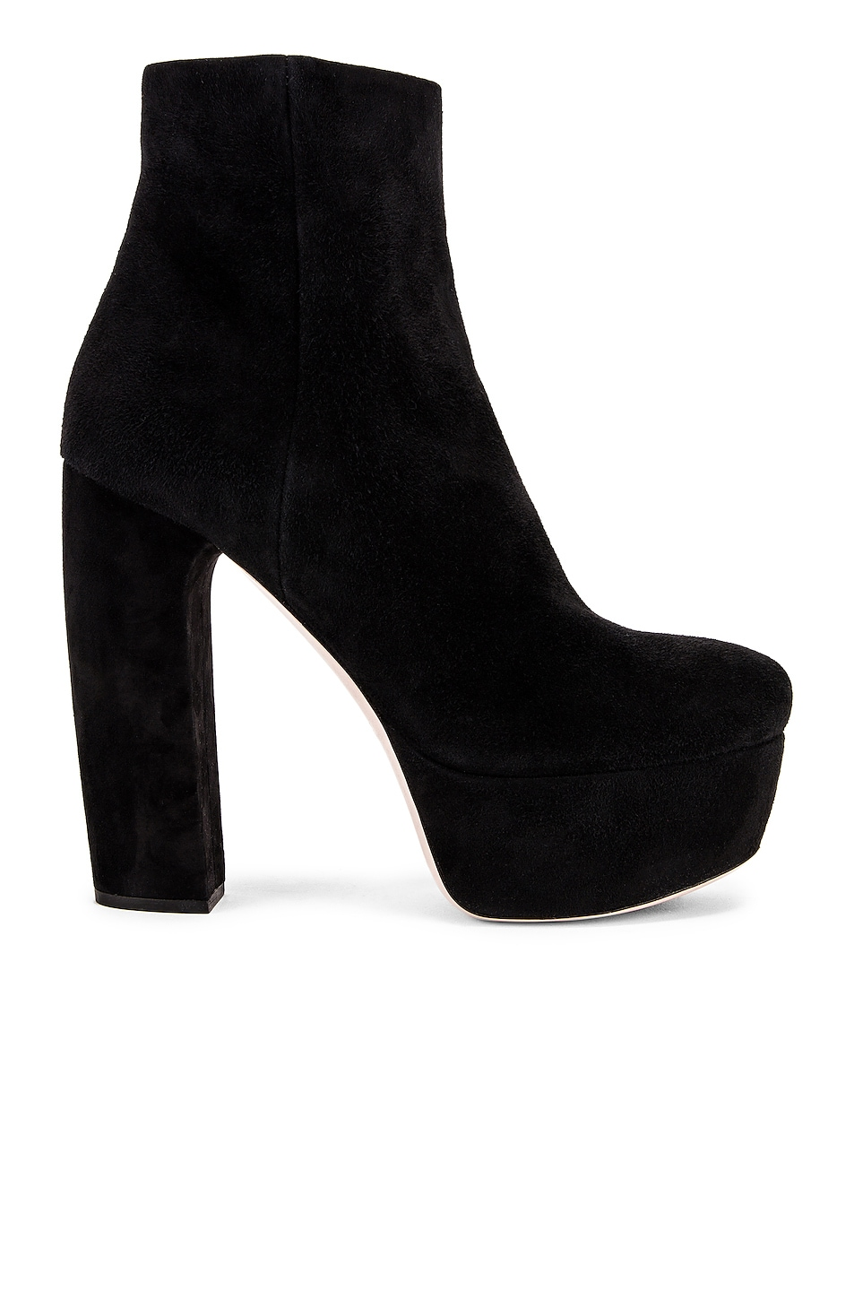 Image 1 of Miu Miu Chunky Platform Ankle Boots in Black