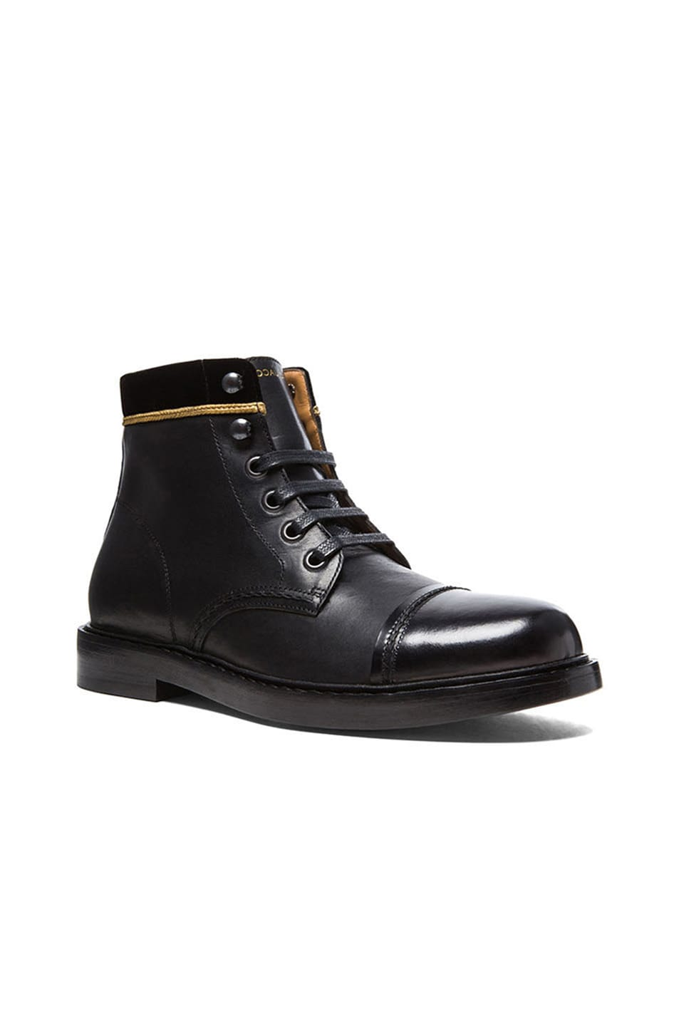 Marc Jacobs Lace Up Leather Boots In Multi Fwrd