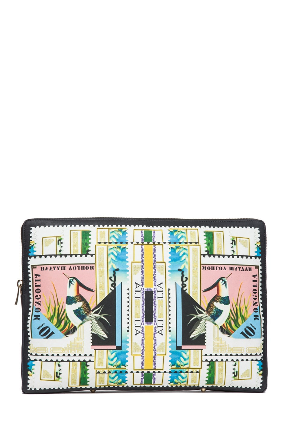 Image 1 of Mary Katrantzou Large Leather Clutch in Sorbonne
