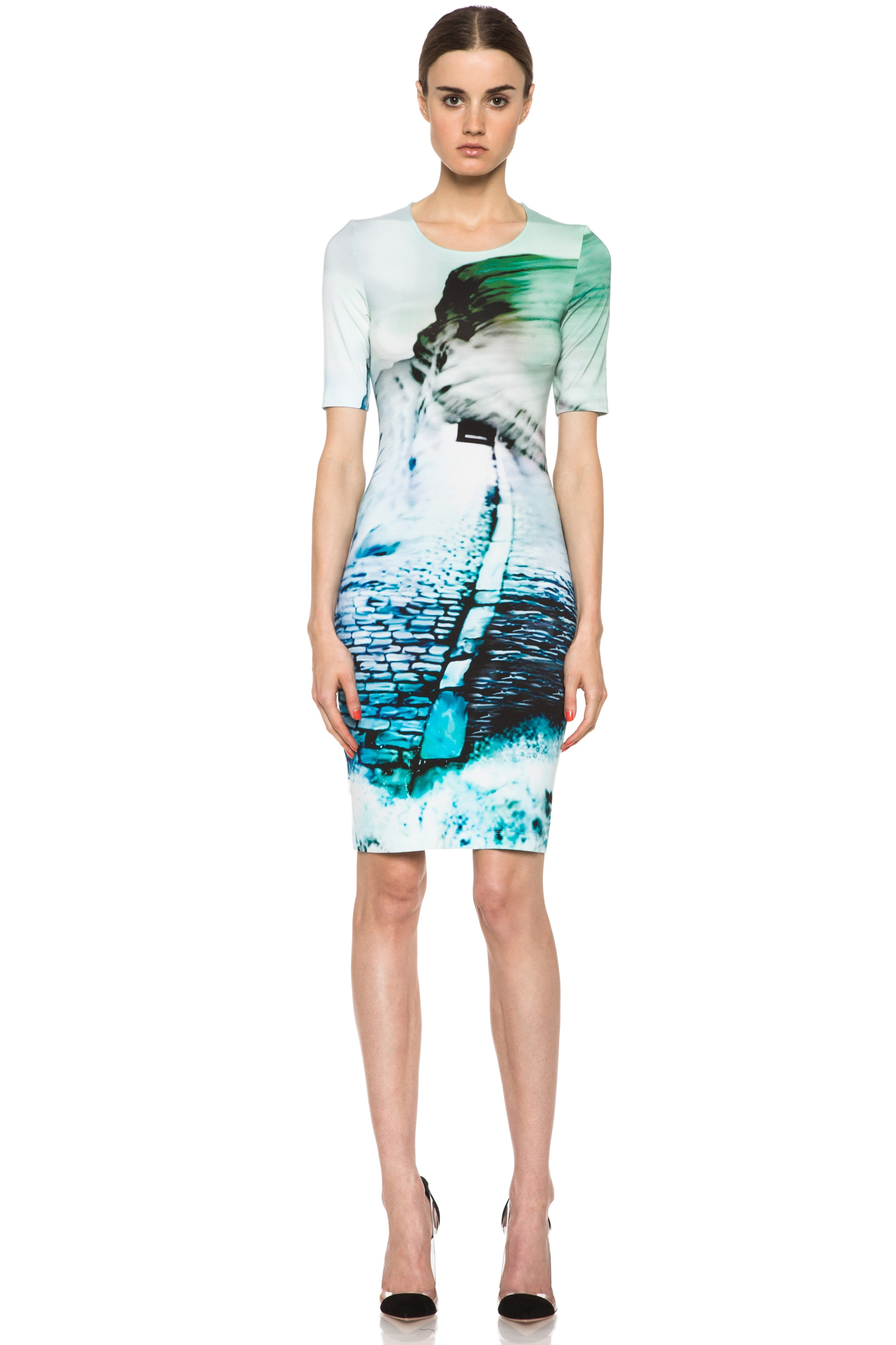 Image 1 of Mary Katrantzou Silk Dress in Sandeep Turquoise