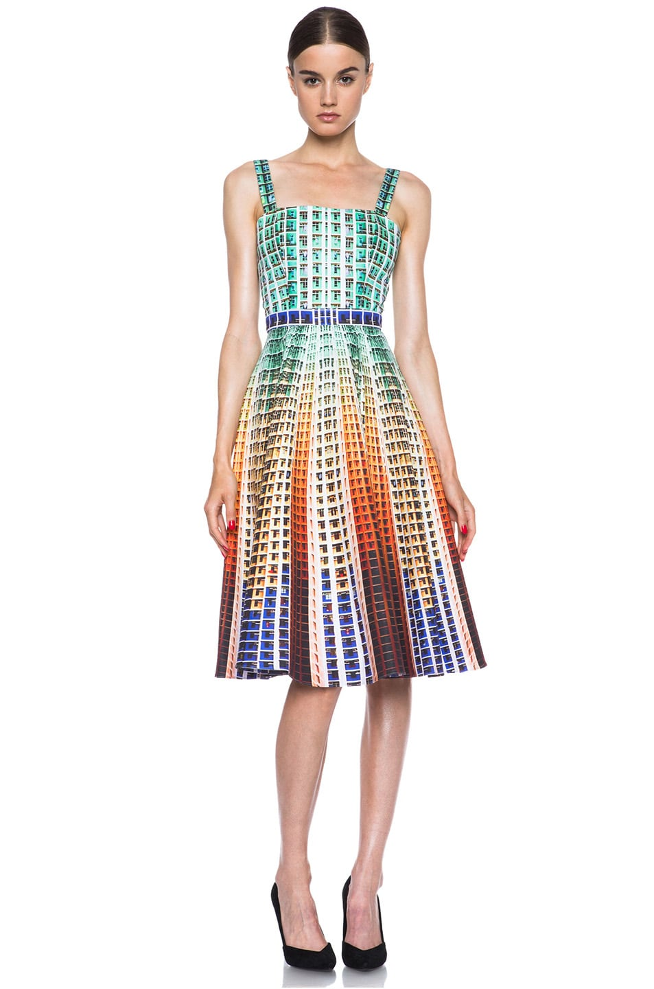 Image 1 of Mary Katrantzou Suddenly Printed Cotton Dress in Suddenly
