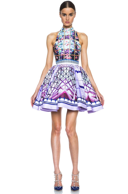Image 1 of Mary Katrantzou Trinkolo Poly Dress in Foli Rose Runner