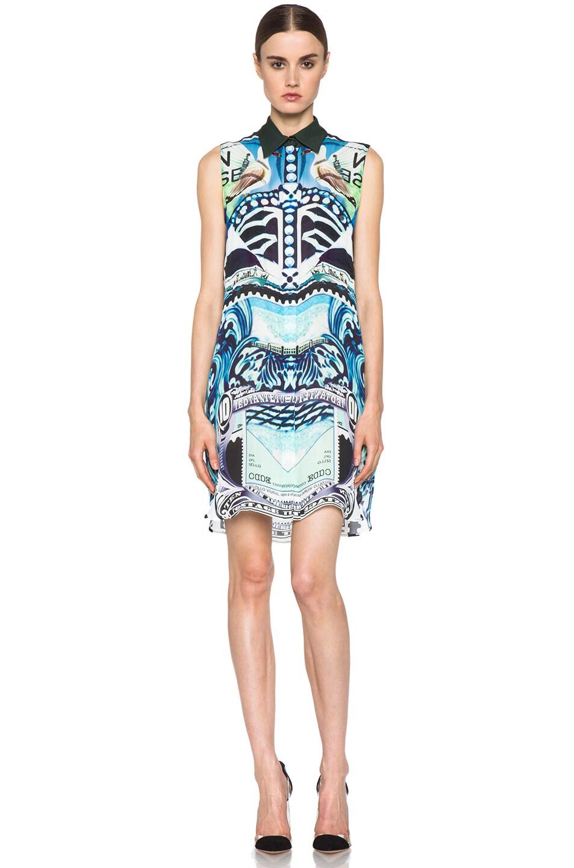 Image 1 of Mary Katrantzou Gloria Silk Blouse Dress in Starsailor