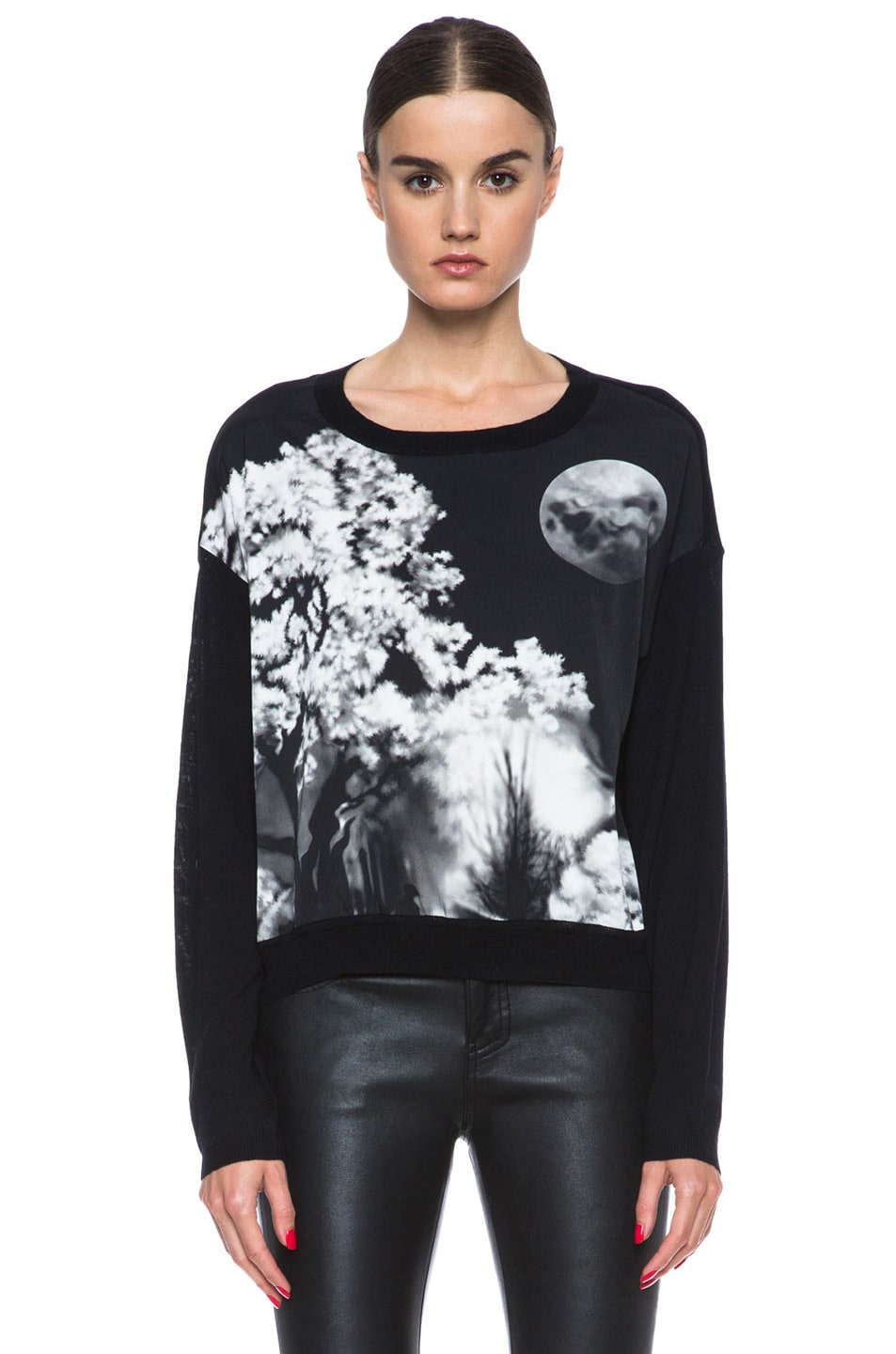 Image 1 of Mary Katrantzou Knipi Wool Sweater in Tia Maria