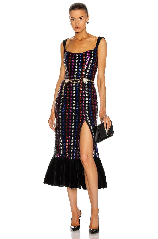 Image 1 of Markarian Gertrude Sequin Corset Dress in Multi
