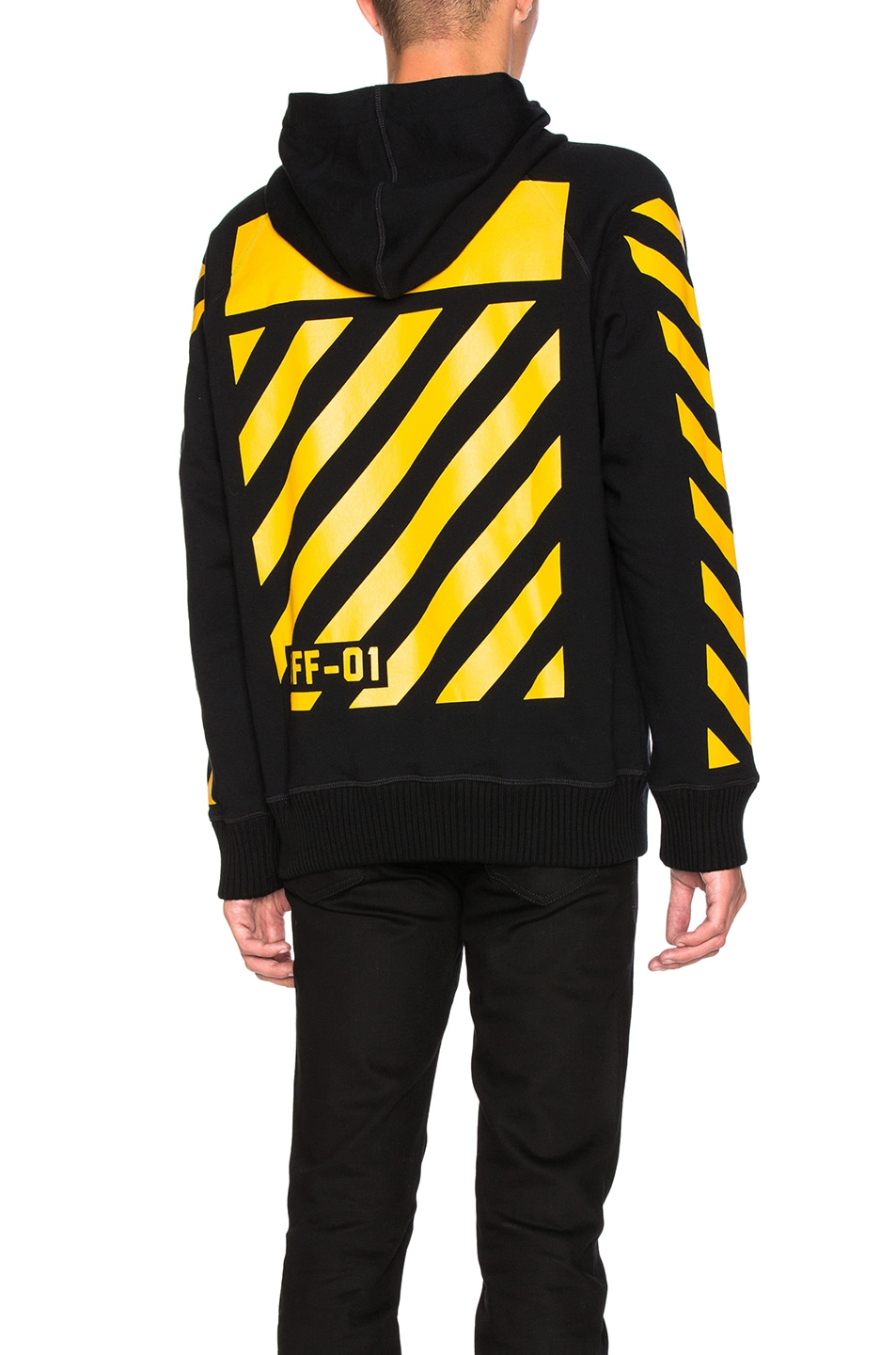 Image 1 of Moncler x Off White Maglia Hoodie in Black