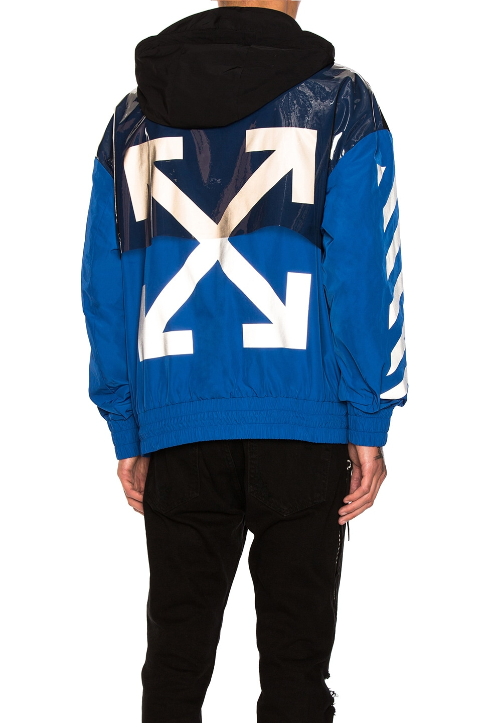 Image 1 of Moncler x Off White Jacket in Black & Blue