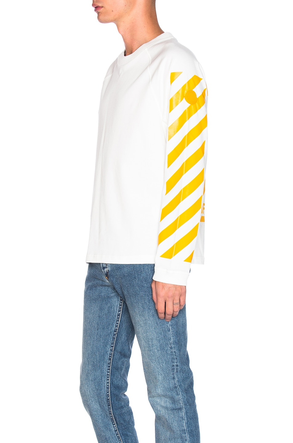 Image 3 of Moncler x Off White Long Sleeve Tee in White