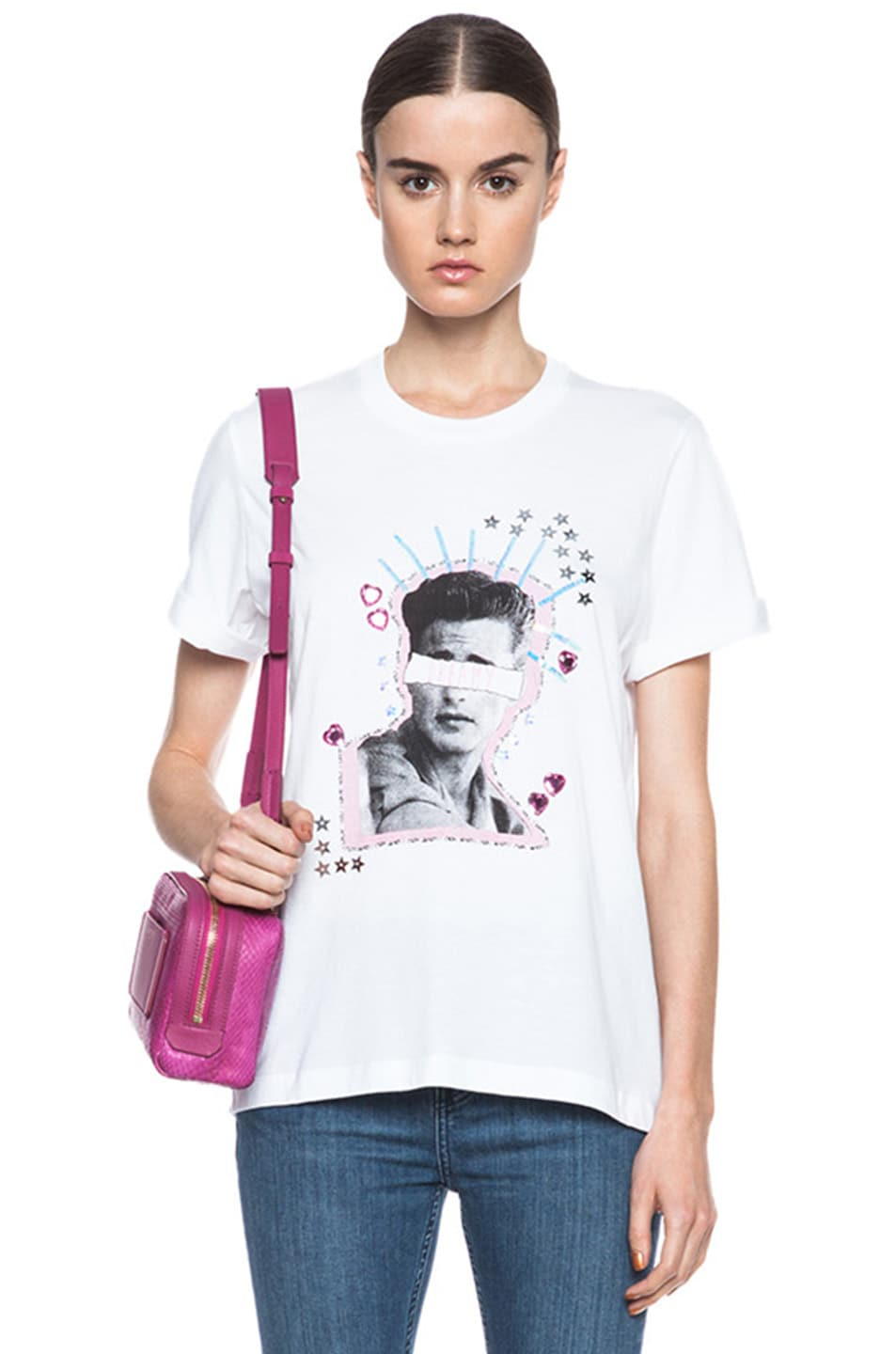 Image 1 of Markus Lupfer Dream Guy Sequin Alex Cotton Tee in White