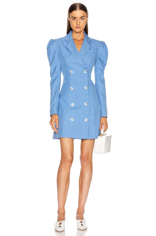 Image 1 of Maggie Marilyn Leap Of Faith Blazer Dress in Sky Blue
