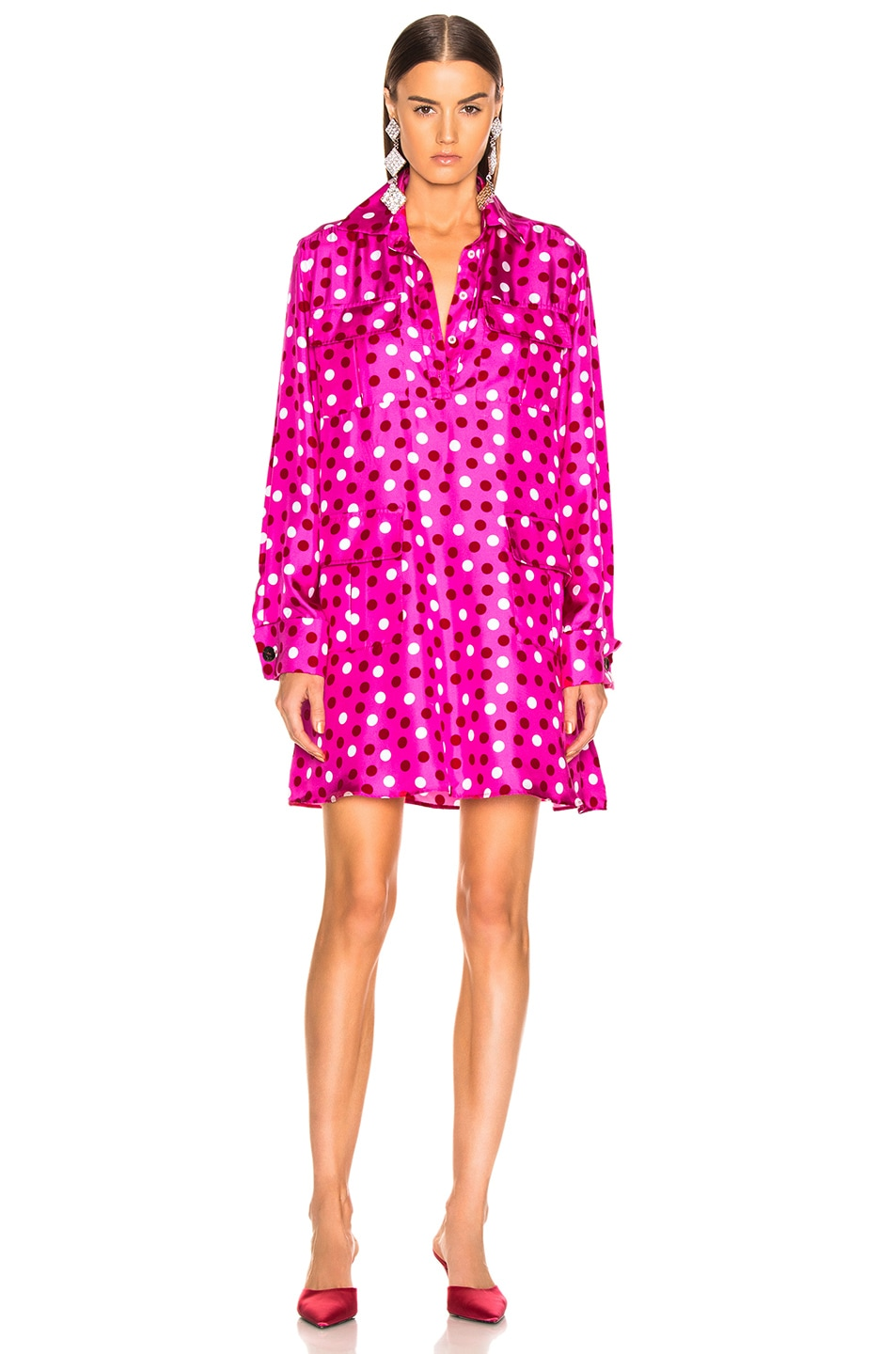 Image 2 of Maggie Marilyn Heat Of The Moment Dress in Pink, White & Red Polka Dot