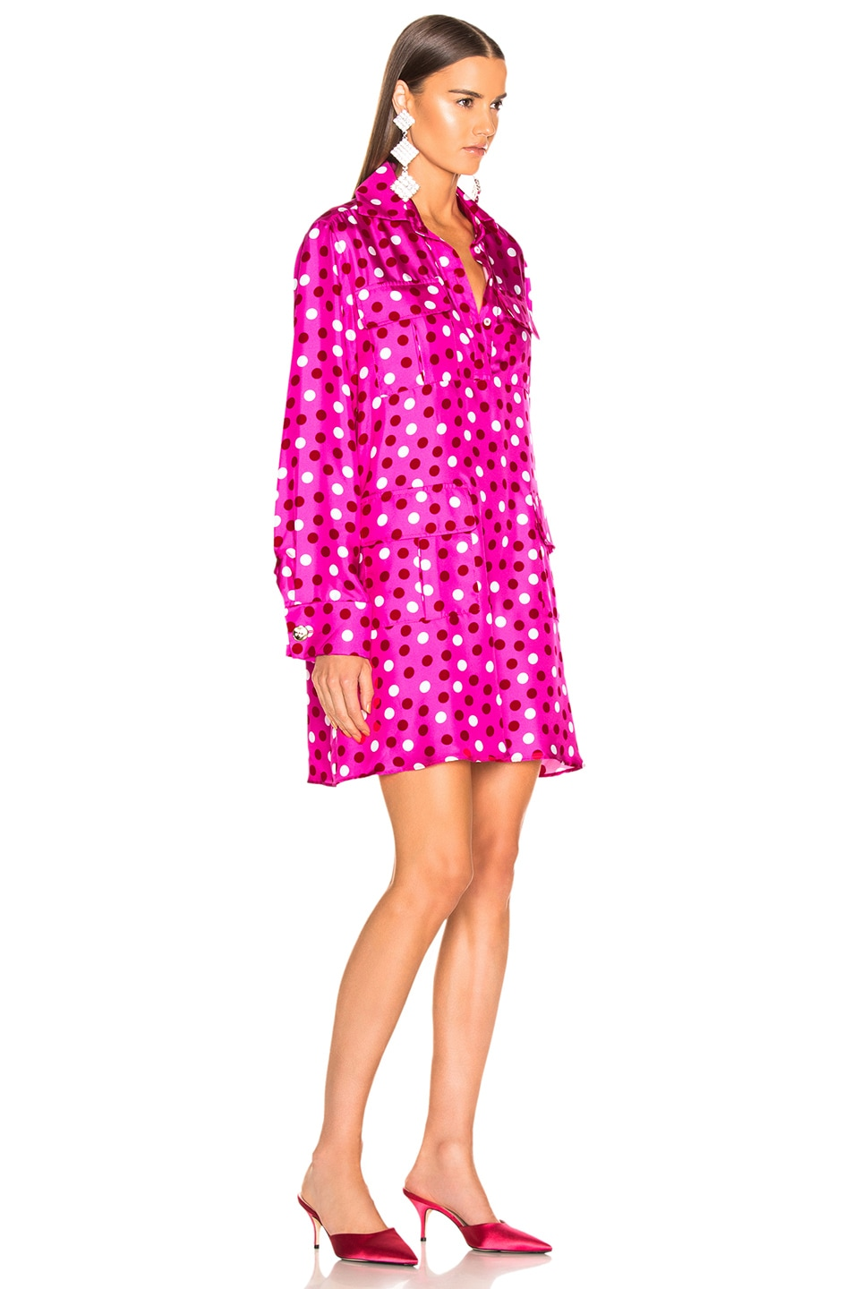 Image 3 of Maggie Marilyn Heat Of The Moment Dress in Pink, White & Red Polka Dot