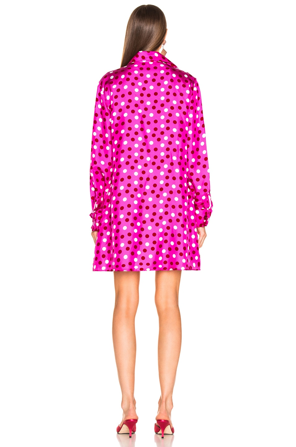 Image 4 of Maggie Marilyn Heat Of The Moment Dress in Pink, White & Red Polka Dot